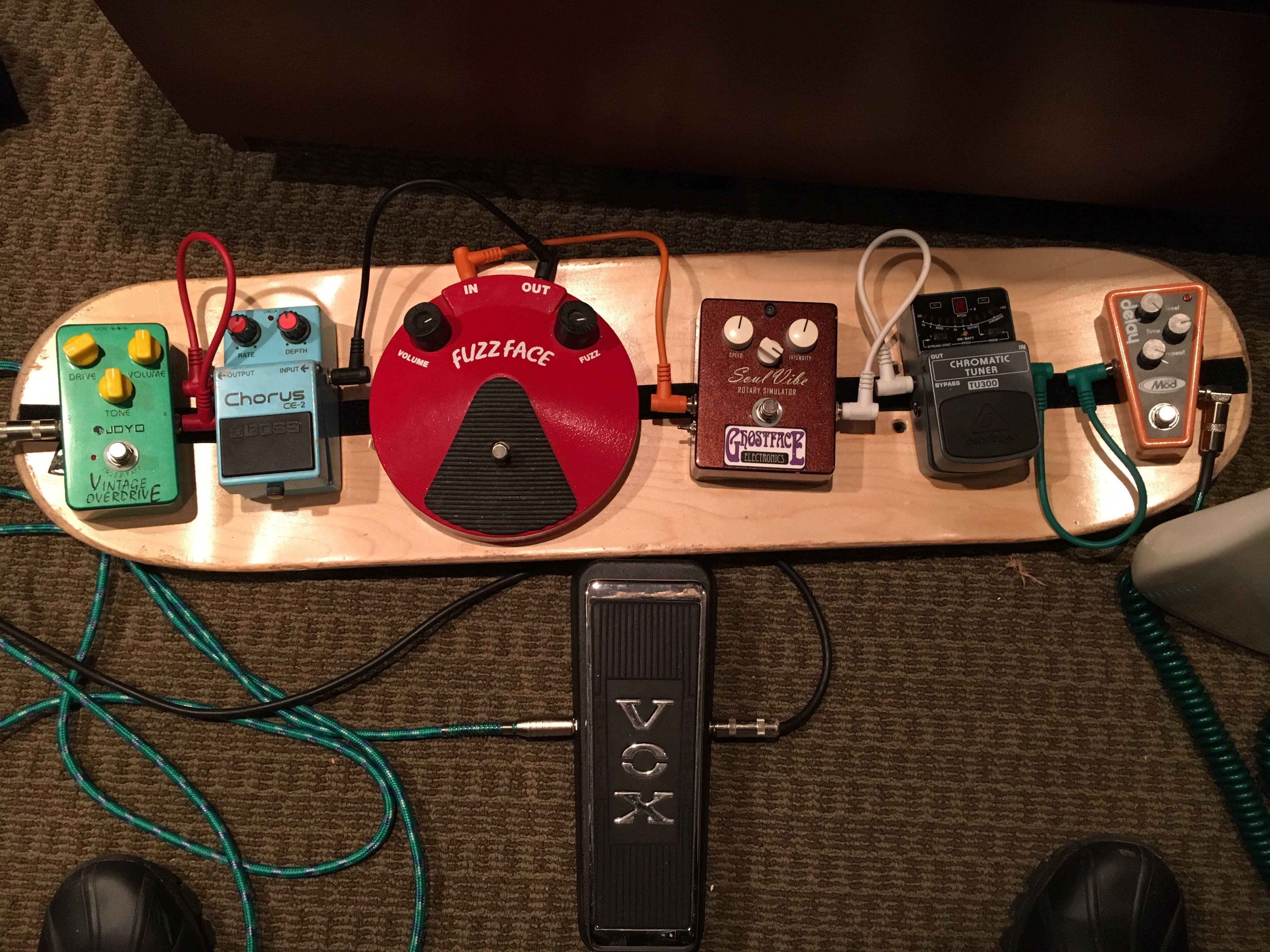 Skateboard Guitar Pedalboard Diy Pedalboard Guitar Pedals Guitar Pedal Board