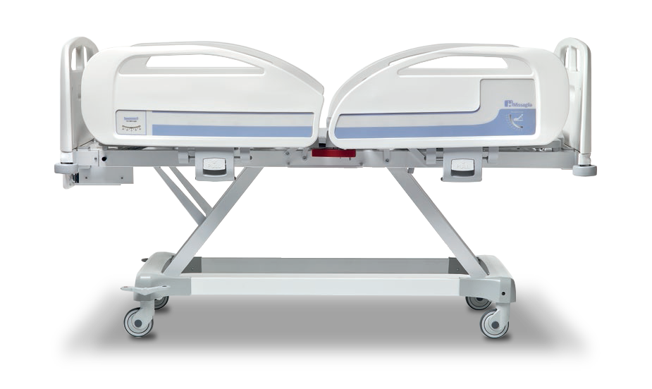 Aesthetic And Ergonomic Bed Where All Mechanisms Are Not Visible To The Patient Hospital Bed Hospital Bed