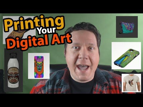 How To Print Digital Art Digital Artist Vlog Digital Art Tutorial Digital Art Things To Sell