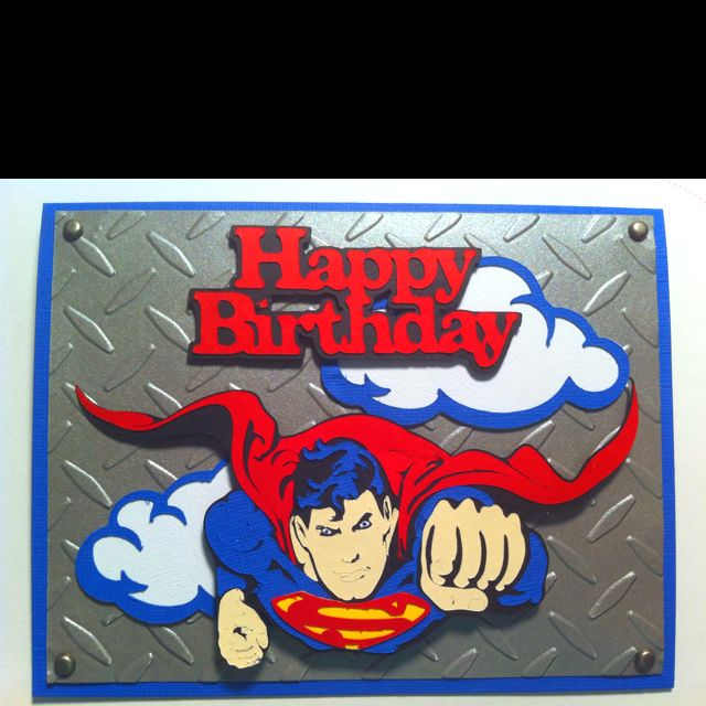 Superman birthday card my crafts pinterest superman birthday superman birthday card bookmarktalkfo Image collections