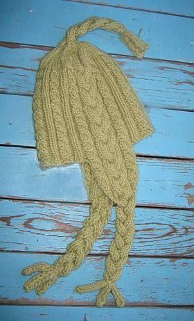 Lofty Braided Earflap Hat Knit In Lofty Wool Crystal Palace