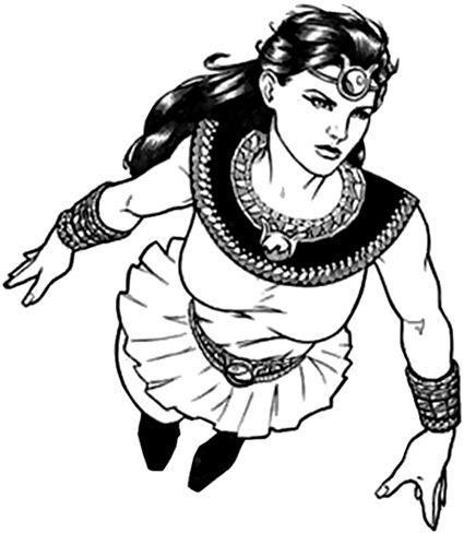 Isis - DC comics - Andrea Thomas - Character Profile - Art by M. McDaniel