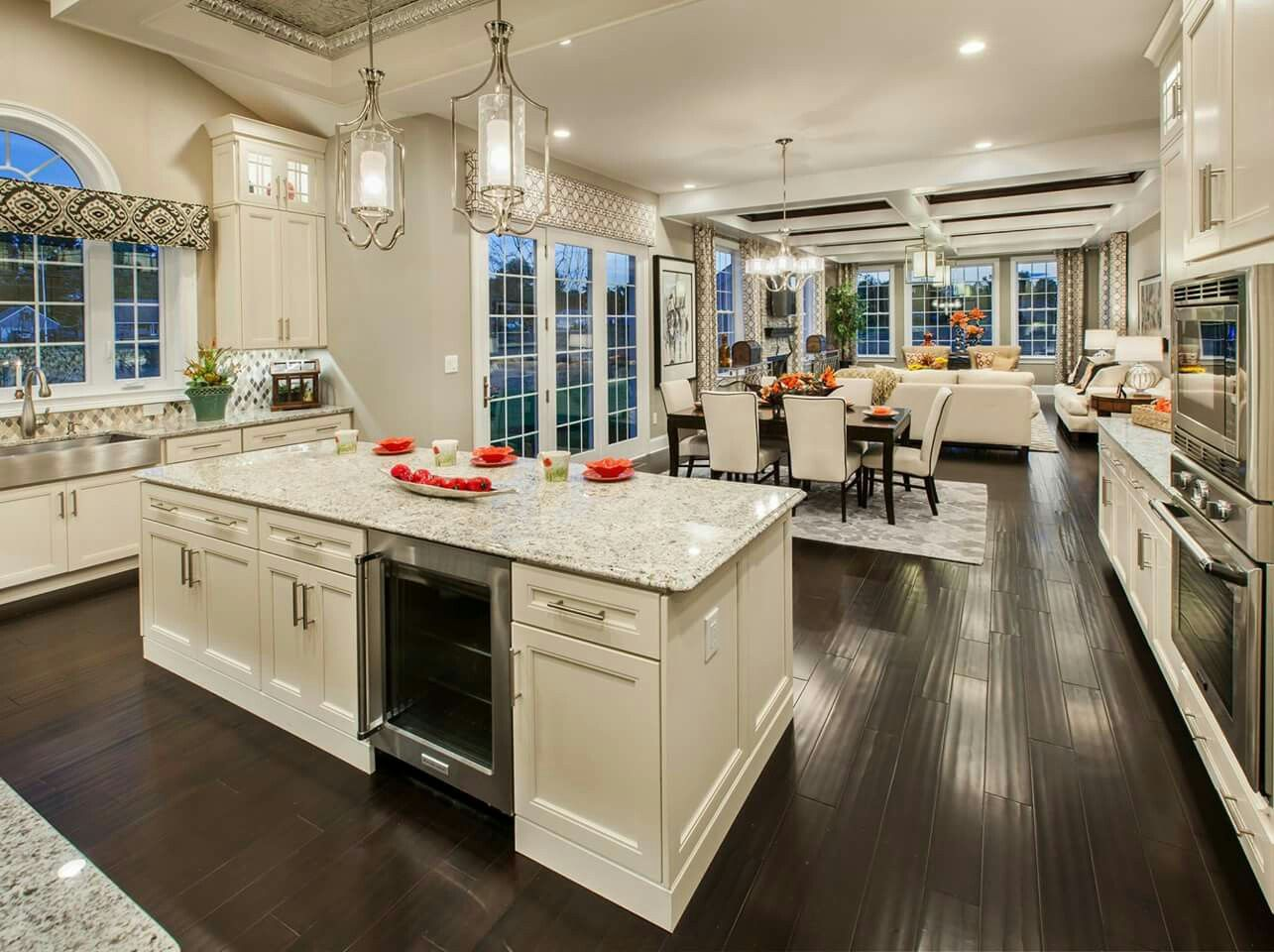 Pin By Melissa Benefiel On Layouts Open Concept Kitchen Living