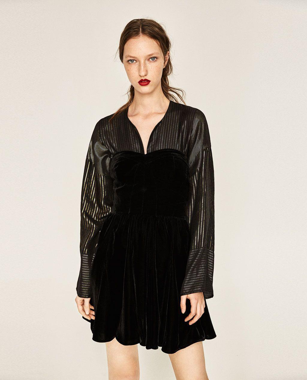 fa08727c51c8 ZARA - WOMAN - VELVET MINI DRESS