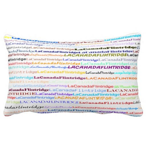 La Canada Flintridge Text Design II Lumbar Pillow
