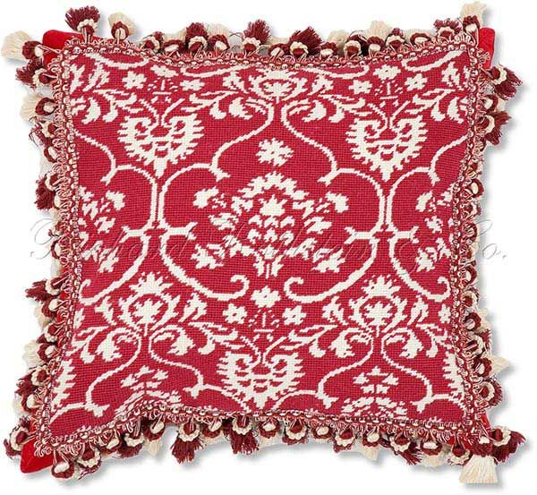 Red White Holiday Christmas Pillow