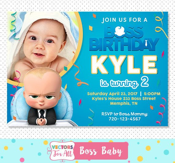 Boss Baby Invitation Party Invite Birthday By VectorsForAll On Etsy