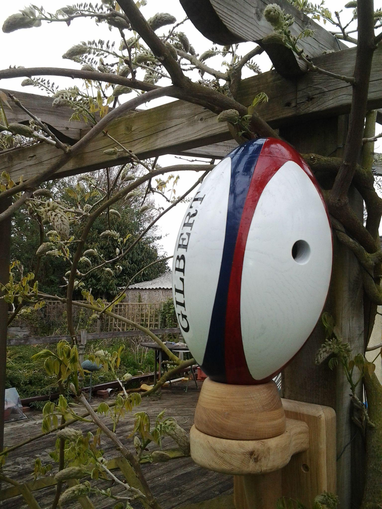 Rugby World Cup Ball Bird Box. | Bird boxes, Cool walls ...