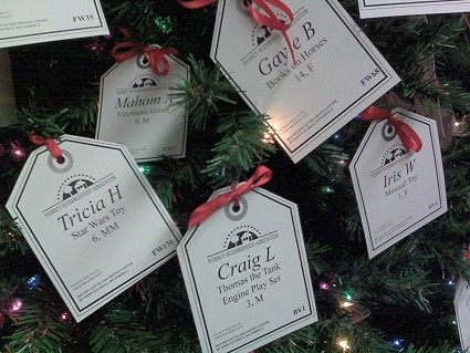 Christmas Giving Tree Ideas.Every Year Starbucks Has A Tree Up With Little Tags Of