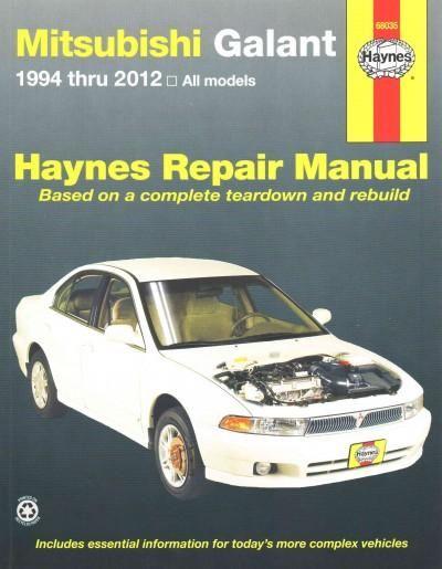 haynes mitsubishi galant 1994 thru 2012 automotive repair manual rh pinterest com 1997 mitsubishi legnum vr4 owners manual Mitsubishi Galant VR4 Wagon