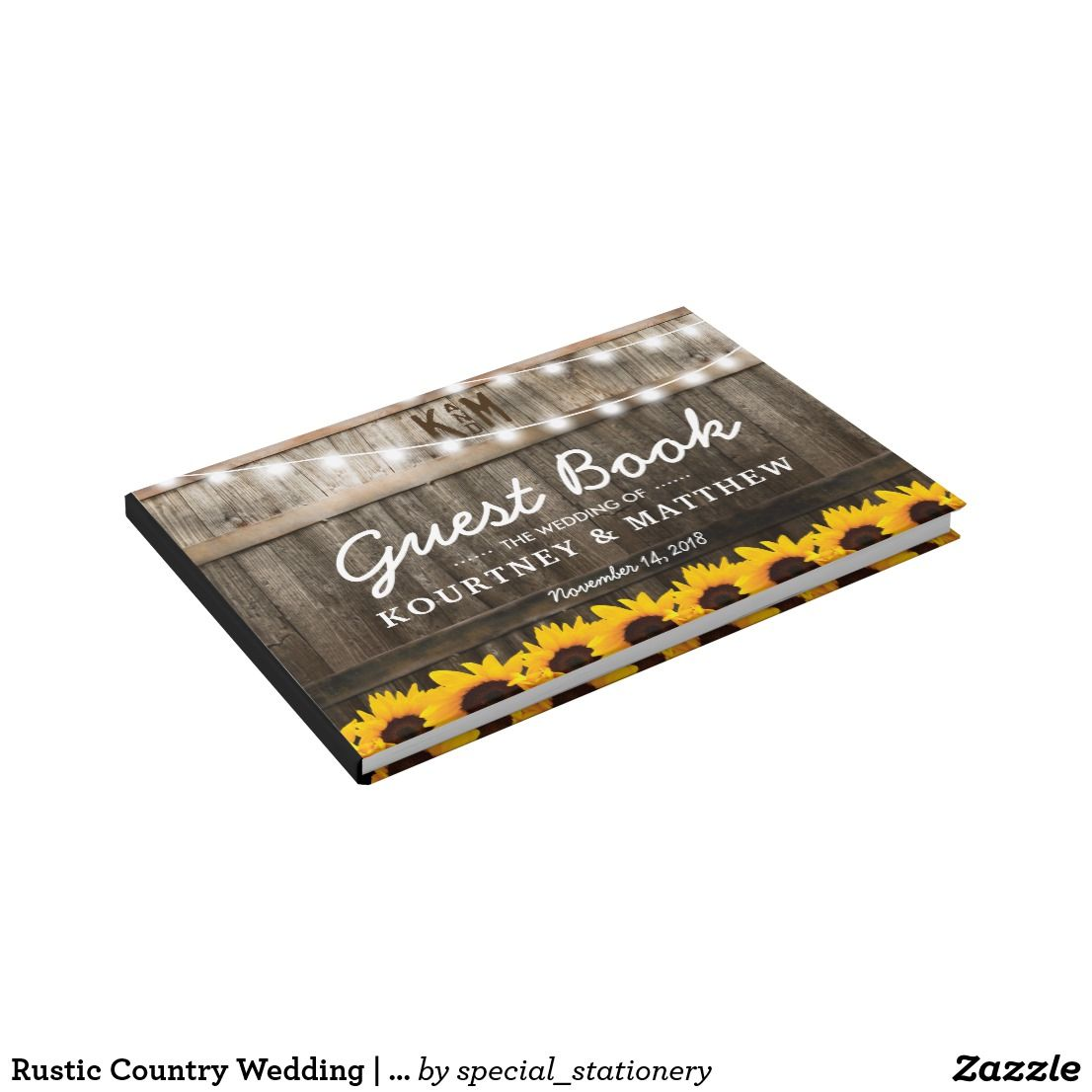 Wedding decorations yellow and gray november 2018 Rustic Country Wedding  Sunflower String Lights Guest Book  Rustic