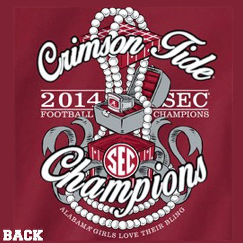 Ladies 2014 SEC Championship Long Sleeved Tee | BamaFever.com