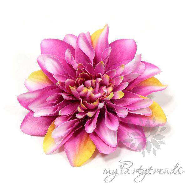 Haarblume, Ansteckblume in pink-weiß-gelb, Ø 12 cm von Boutique für wundervolle Accessoires zum Liebhaben! auf DaWanda.com