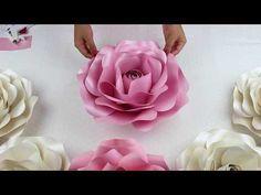 76547823f2 Diy Rose Tutorial (Large Size Paper Rose)