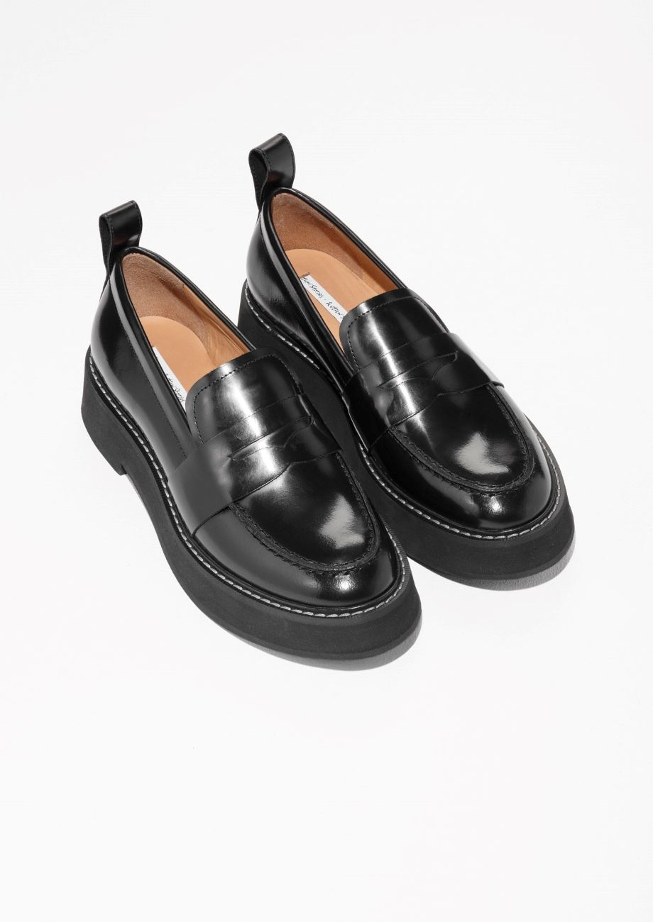 Chunky Loafers in Black