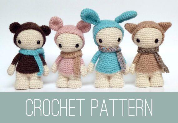 Amigurumi doll crochet PATTERN, crochet dolls pattern, amigurumi PDF ...