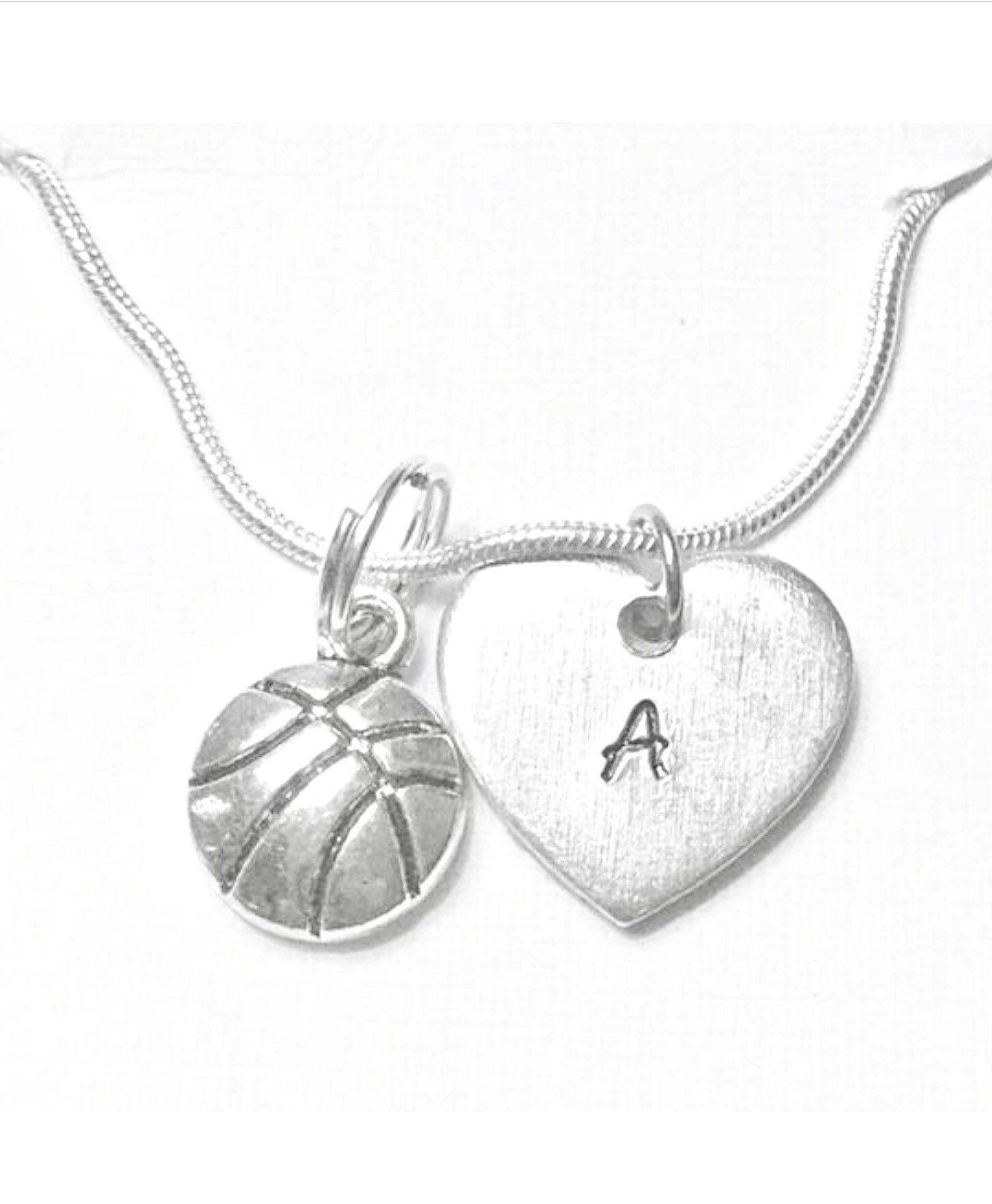 Basketball necklace basketball gift basketball lover