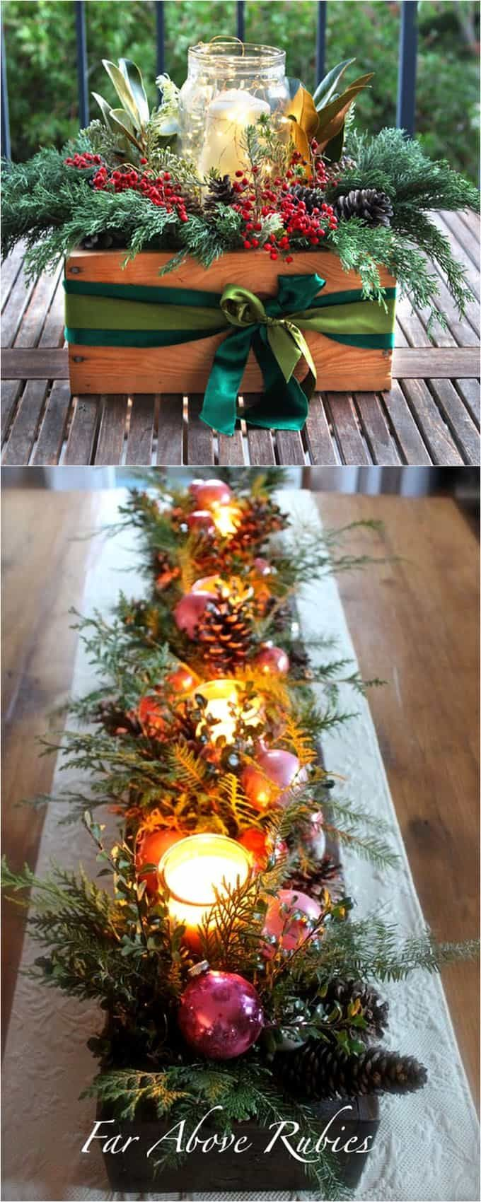 Simple Christmas Decorating Ideas: 27 Gorgeous DIY Thanksgiving & Christmas Table Decorations