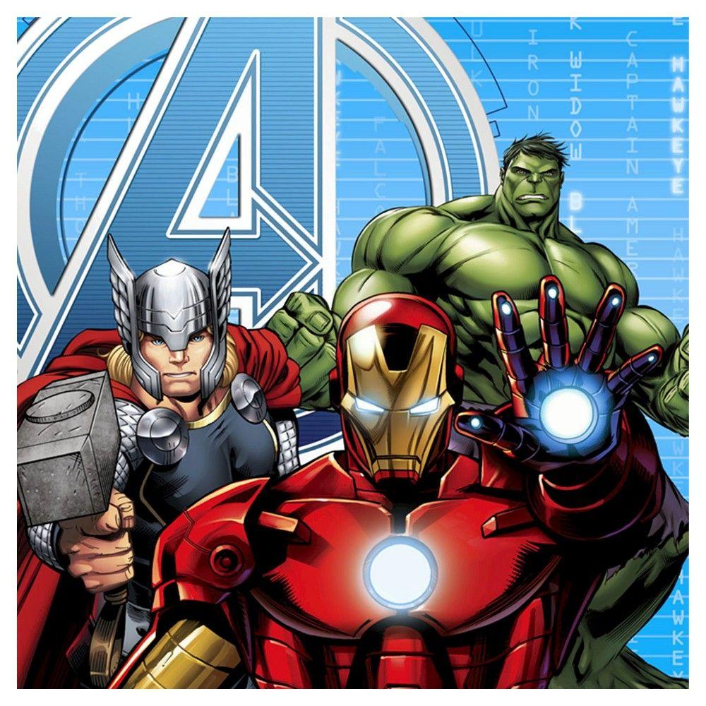 Avengers Napkin 16 Count, Disposable Napkins