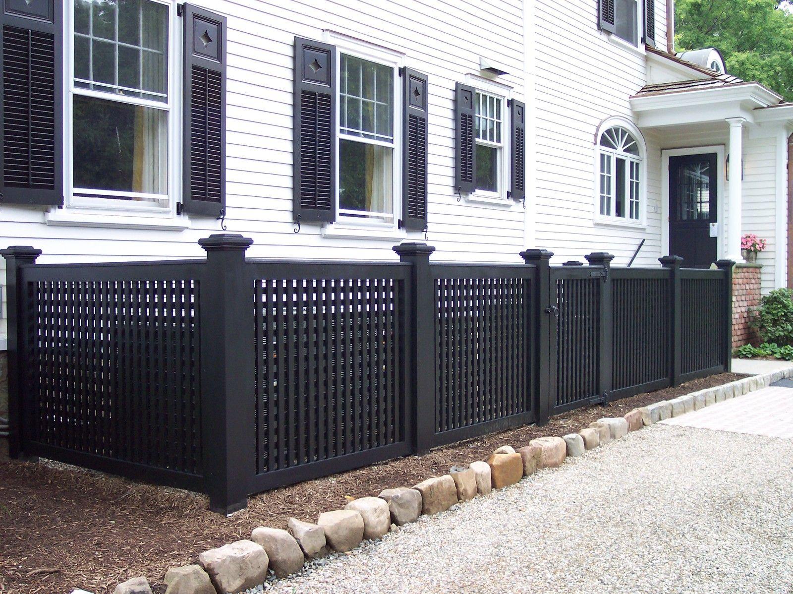 Maintenance Free Lattice Fencing Lattice Fence Exterior Design