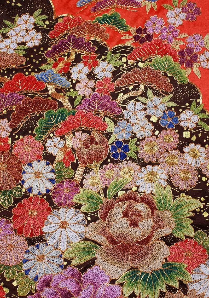 Japanese Kimono Embroidery | Wallpaper Rugs U0026 Textiles | Pinterest | Japanese Kimono Kimonos ...