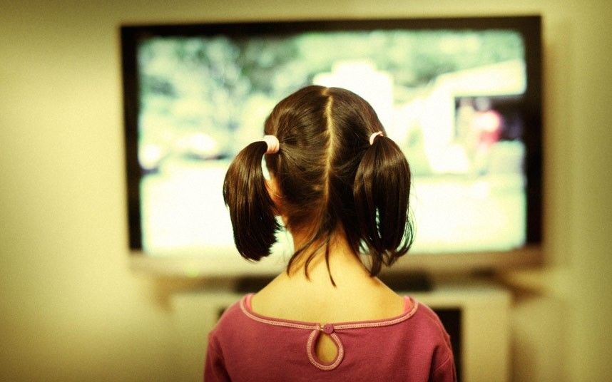 Children who watch tv for more than two hours a day at