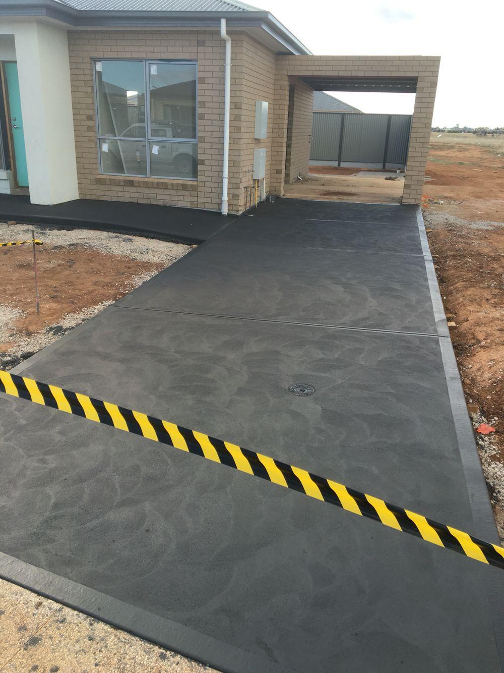 Black Concrete Driveway Done By A P Concrete Driveway Design