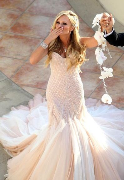 Real Housewife Tamara Judge in her Mark Zunino Blush Gown! One of my ...