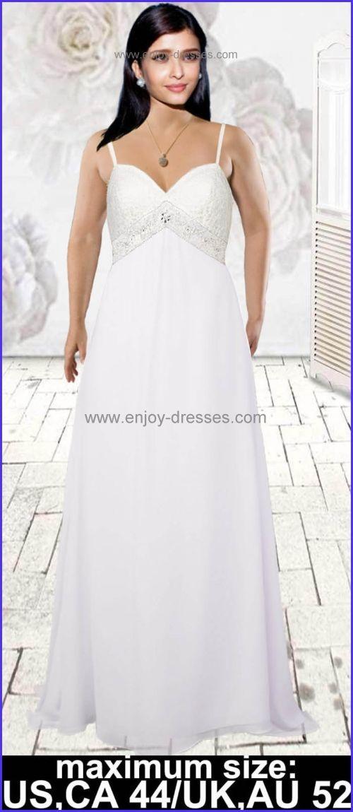 281ea5b58dd7e inexpensive bead chiffon lace plus size wedding dresses with sleeves-maximum  size Canada