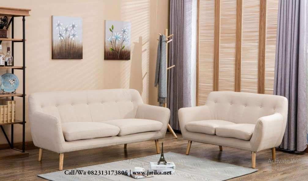 Kursi Tamu Modern Scandinavian Set Ruang Keluarga Mebel Furnitur Ruang Keluarga