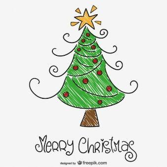 Dibujo A Color De Arbol De Navidad Dibujos Illustration