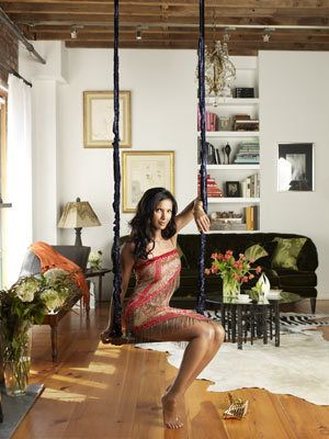 bf3f762eb0 Padma Lakshmi's apartment - next life I want an indoor swing!! - #WCW