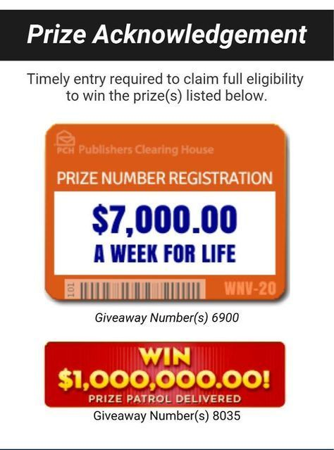 Image result for PCH Entry Claim Superprize PCH GWY No 8800