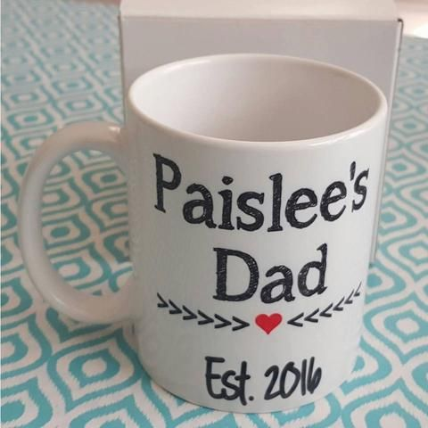 New Dad Mug,  Gender Reveal Mug, New Dad Gift, Dad to Be Gift, Gift from Daughter, First Gift From Baby, Announcement Gift, Gift from baby