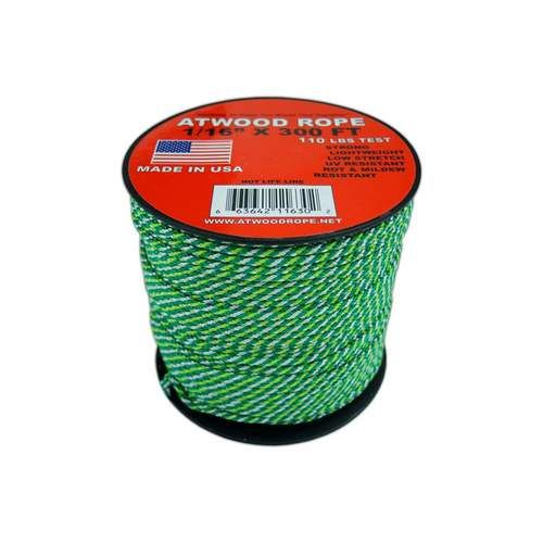 Kelly Green Camo 1 16 Mini Cord 300 Feet Kelly Green Paracord Mini