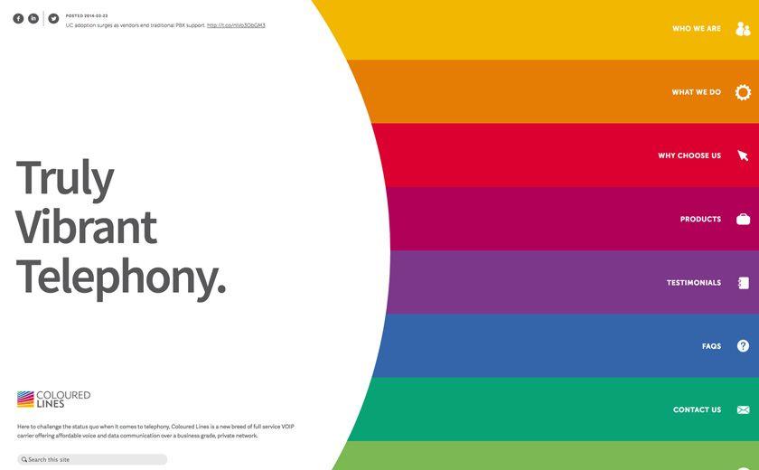 Coloured Lines Web Design Web Design Inspiration Freelance Web Design