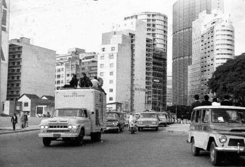 1968 - Rua da Consolação, na altura da rua Amaral Gurgel.