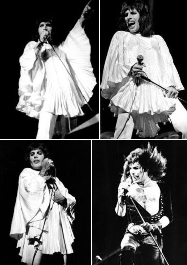 It was during an early Queen show that Freddie's mic stand