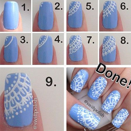 Cool nail art design for upcoming winter amazing nail designs step by step winter nail art tutorials 2013 2014 for beginners amp learners fabulous nail art design 9 prinsesfo Image collections