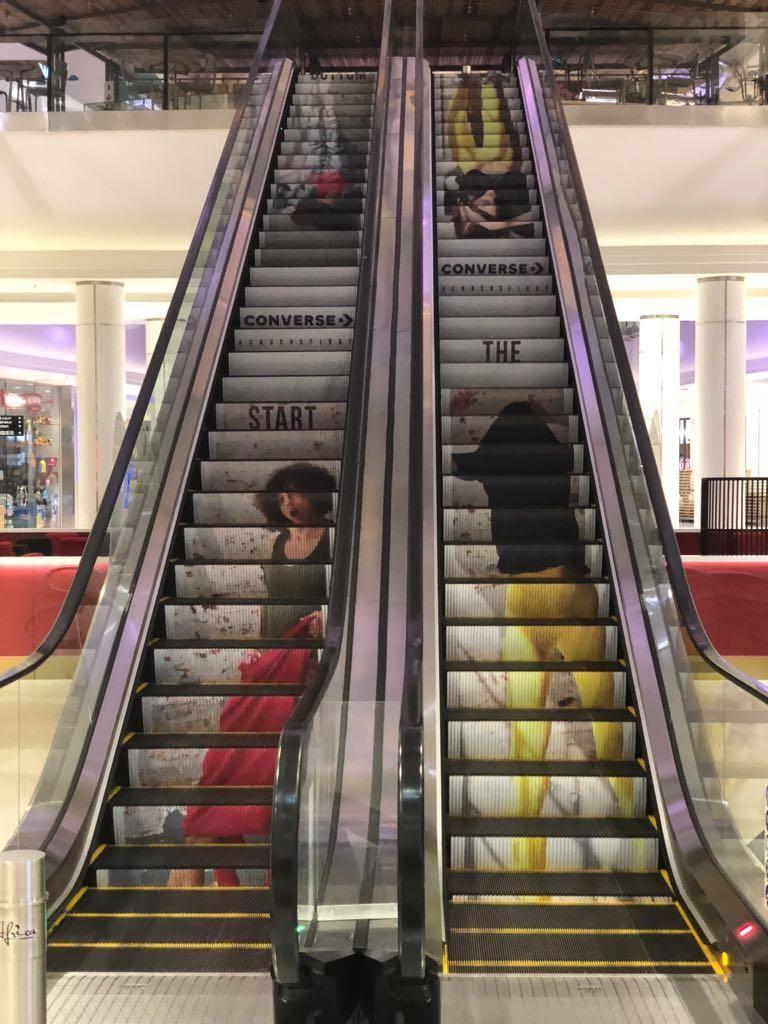 Converse - Escalator Mall Branding