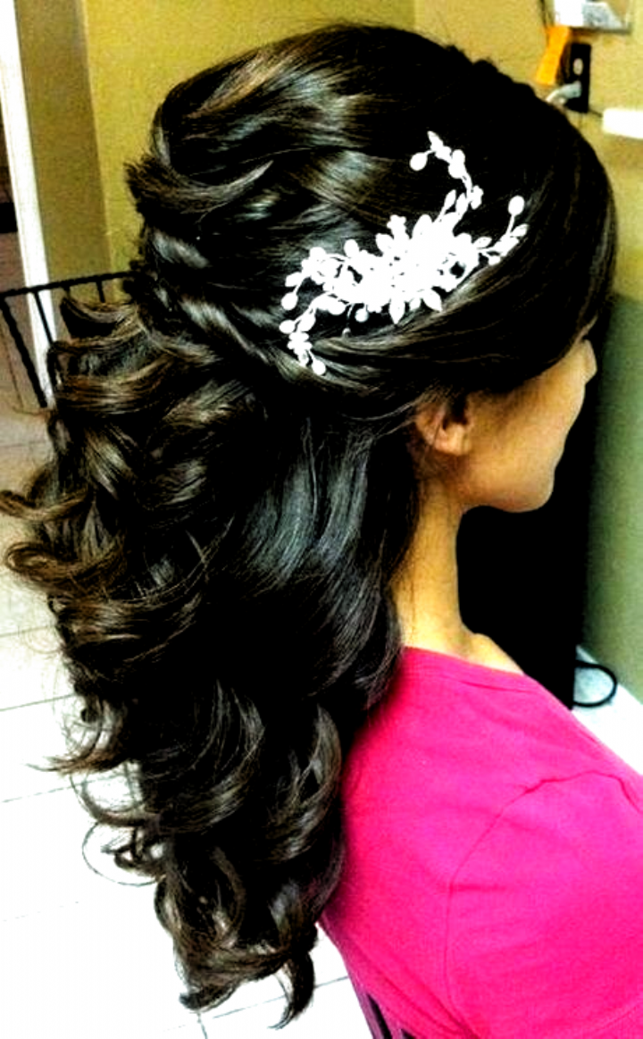 Pin on medium length hair   Prom hairstyles for long hair, Indian ...