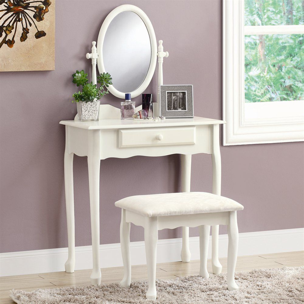 Monarch Specialties I 3412 Vanity Set Lowe S Canada Bedroom Vanity Set White Vanity Set White Bedroom Vanity