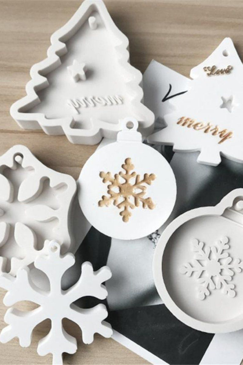 DIY Christmas Trees Soap Candle Mould Mold Creative Handmade Silicone Mold