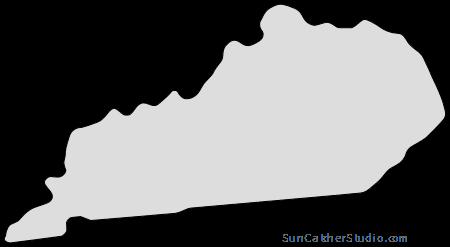 Kentucky Map Outline Printable State Shape Stencil Pattern Map Outline Free Stencils Stencils Printables