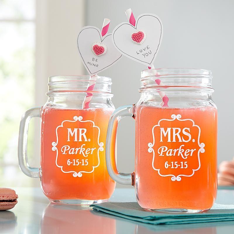 Perfect Pair Mason Drinking Jar Set