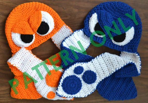 Crochet Splatoon Squid Hat **PATTERN ONLY