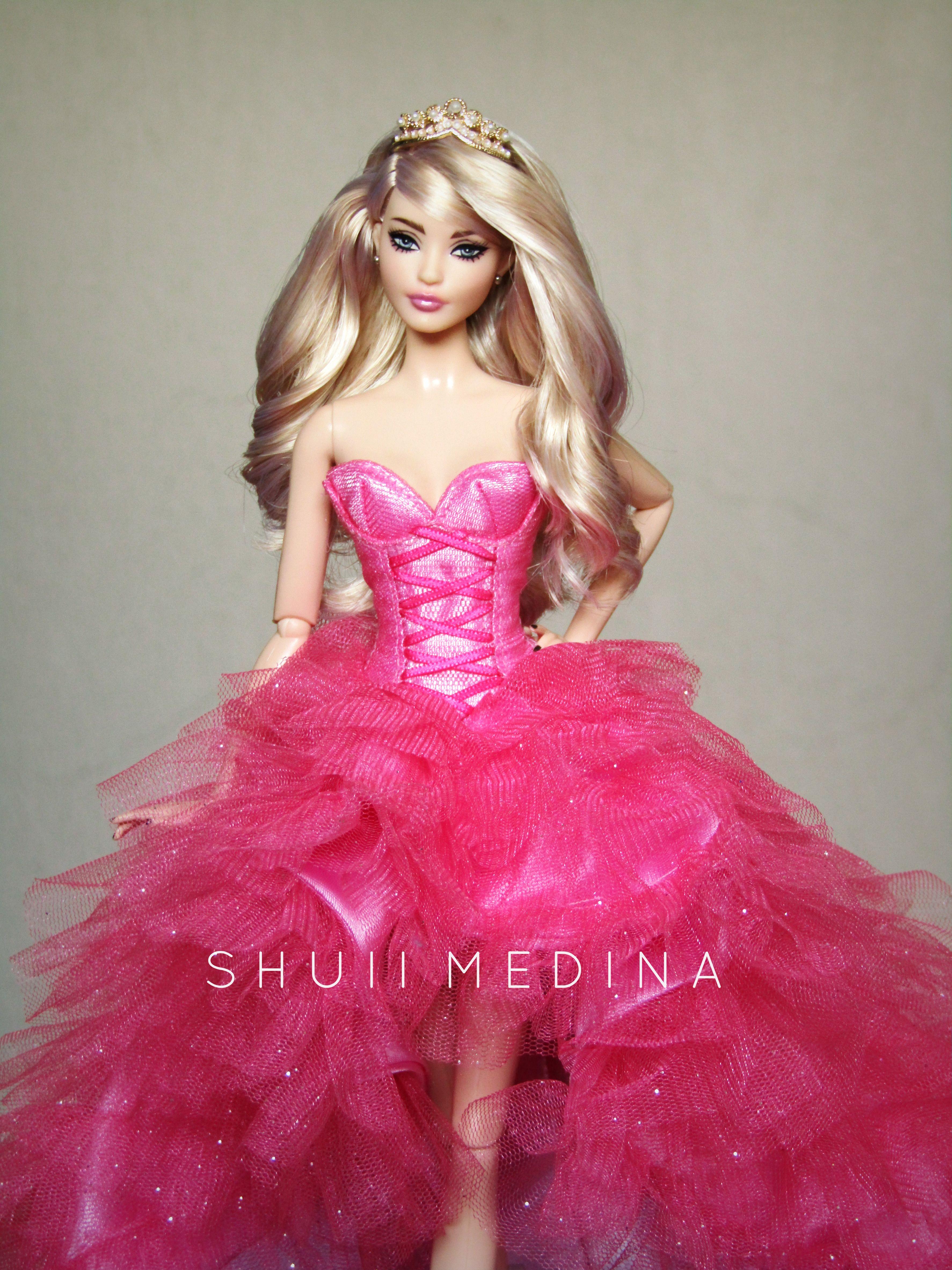 barbie pink dress womens