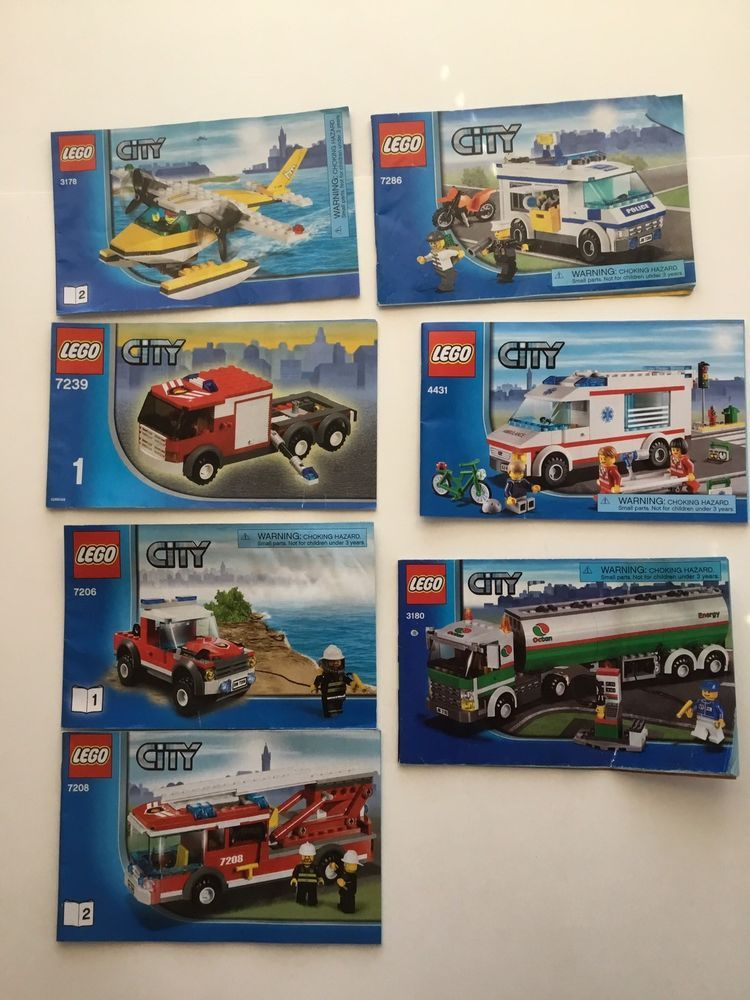 Lego City Instruction Manuals Manuals Only No Lego Pieces Lot Of 13