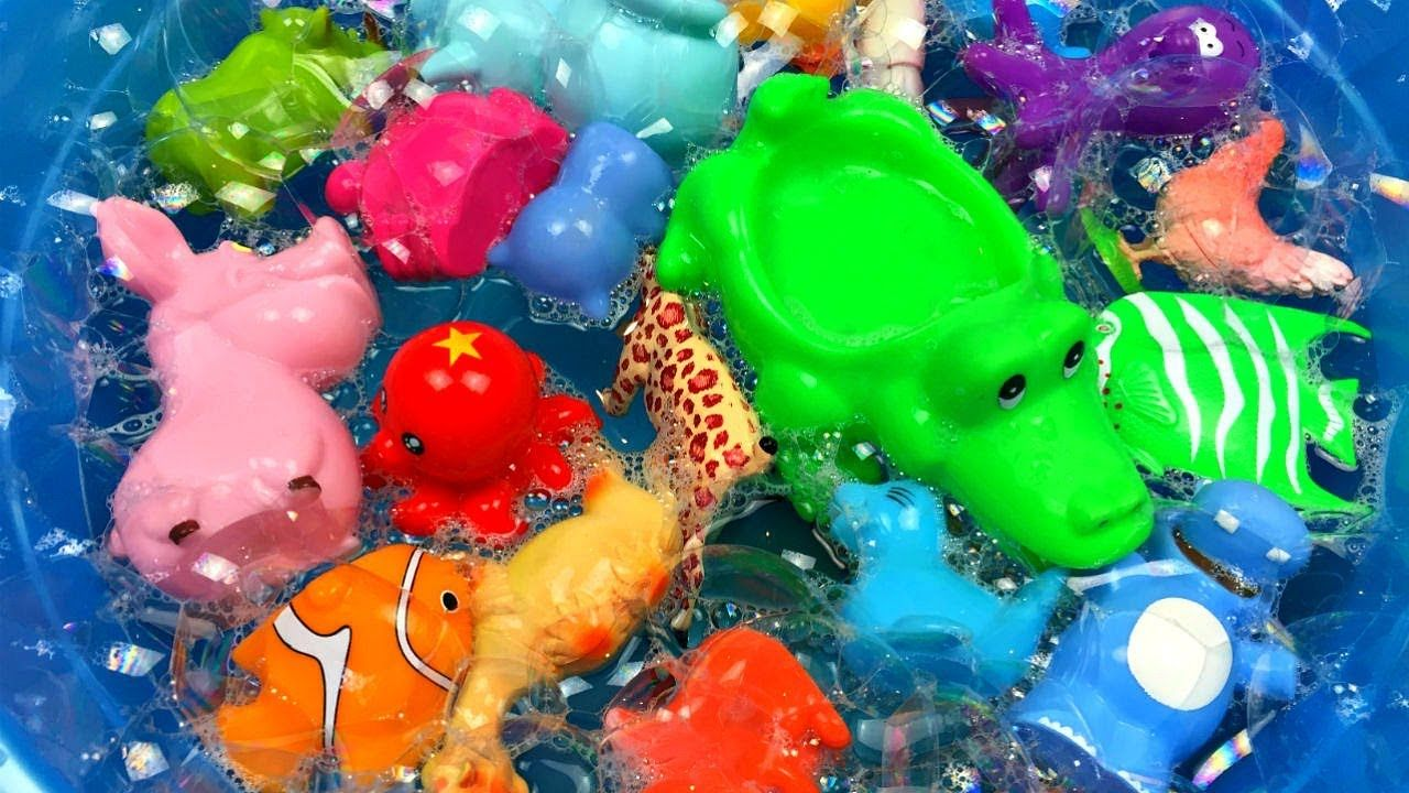 Toys images with names  Learn zoo animal name Learn colors Animal toys for kids Animal