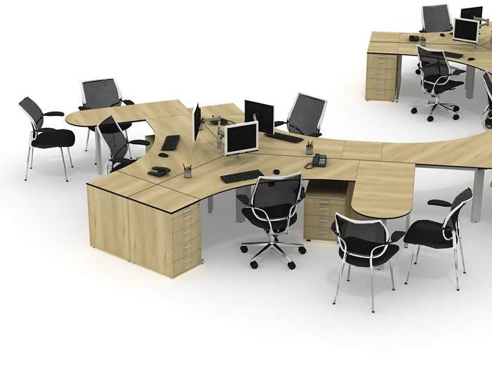Stylish Admin Team Desk Layout
